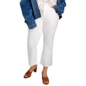 Madewell Cali Demi-Boot Raw-Hem Cropped Jeans NWT